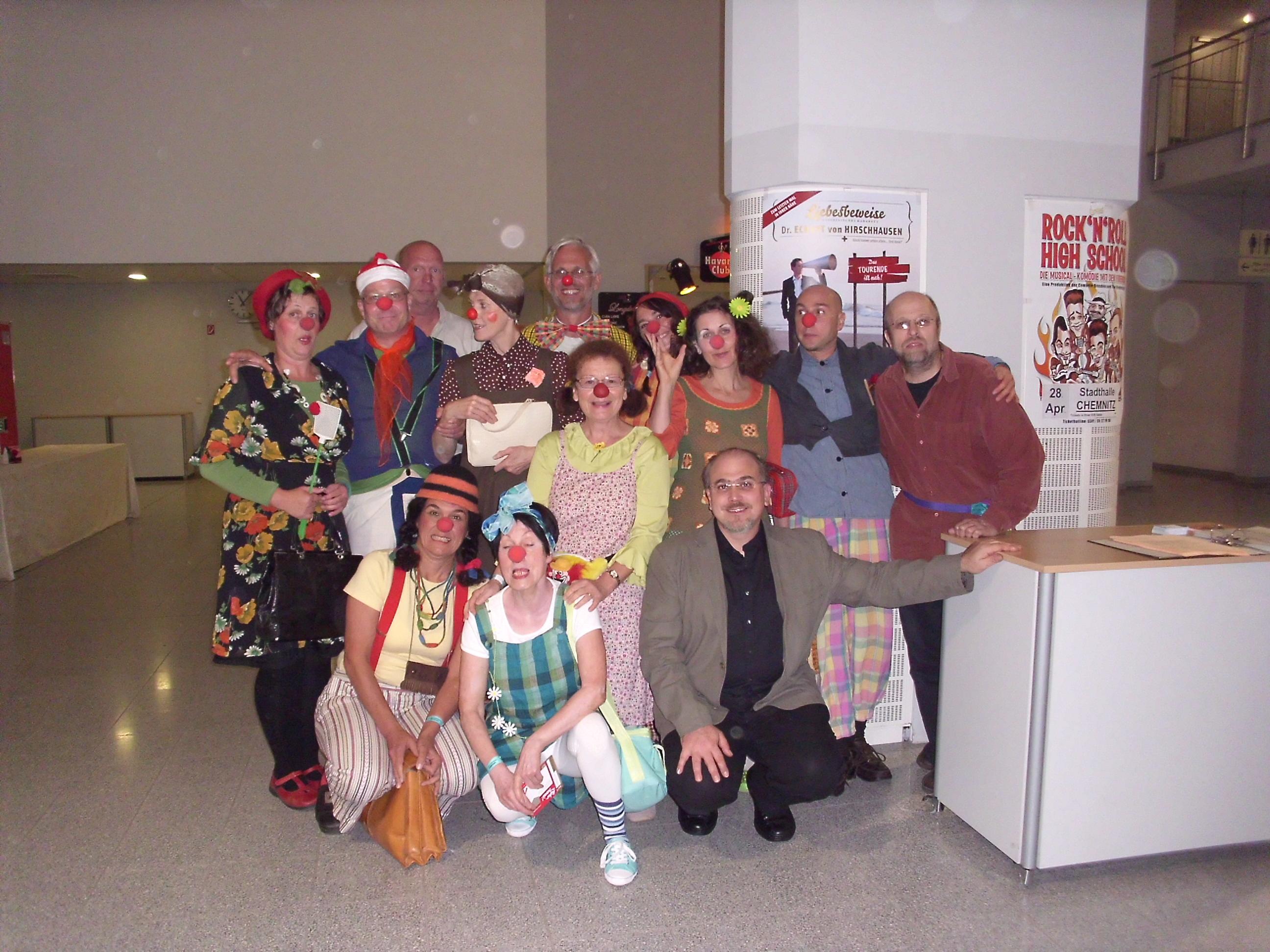 Gruppenbild einer Clownsklasse