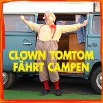 Hier sollte der Weiterleitungsbutton für Clown Tomtom fährt campen zu sehen sein.