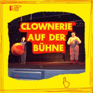 Hier wird zur Clownerie auf der Bühne weitergeleitet.